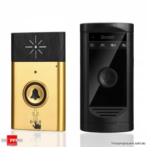 Wireless Doorbell Two-way Intercom Inter-phone 200m Distance LED Indicator Doorbell - Gold