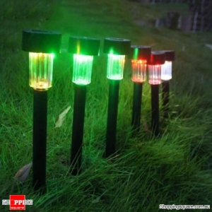 Waterproof Solar LED Lawn Light Outdoor Garden Light Landscape Yard Path Lamp - Colorful