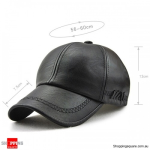 Artificial Leather PU Lace-up Adjustable Baseball Caps Sunshade Hats - Light Coffee