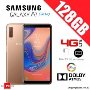 Samsung Galaxy A7 (2018) A750FD 128GB Dual Sim 4G LTE Unlocked Smart Phone Gold