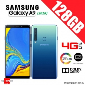 Samsung Galaxy A9 (2018) A920FD 128GB Dual Sim 4G LTE Unlocked Smart Phone Lemonade Blue