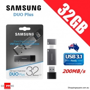 Samsung 32GB DUO Plus USB 3.1 Flash Drive Memory 200MB/s