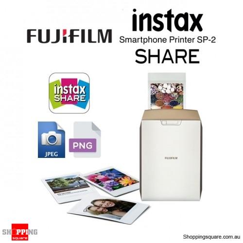Fujifilm Instax Share SP-2 Smart Phone Digital Camera Photo Printer Gold