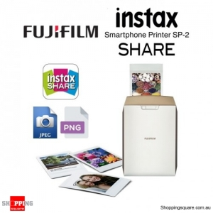 Fujifilm Instax Share SP-2 Smart Phone Digital Camera Photo Printer Gold