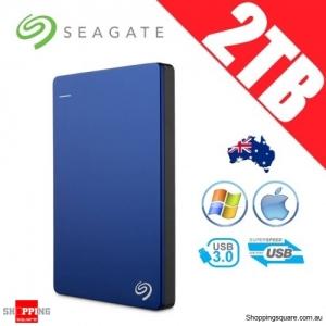 Seagate Backup Plus Slim 2TB 2.5in Portable Hard Disk Drive Blue