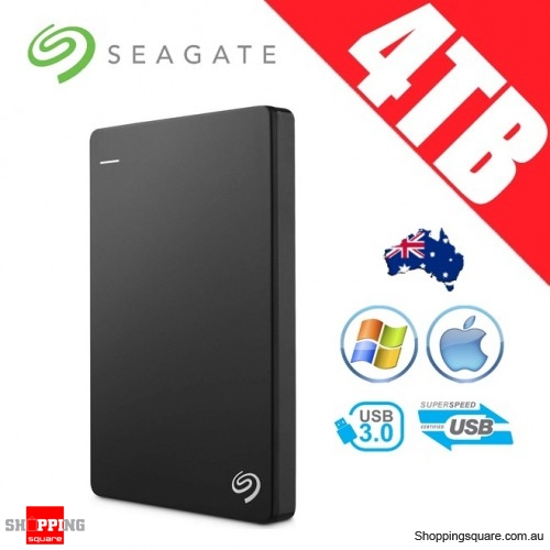 Seagate Backup Plus Slim 4TB 2.5in Portable Hard Disk Drive Black