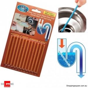 Sink Deodorant Stick 12 Pcs Set Magic Clean Enzymes Sewer Device Deodorant - Orange