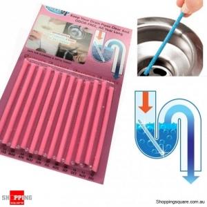 Sink Deodorant Stick 12 Pcs Set Magic Clean Enzymes Sewer Device Deodorant - Pink