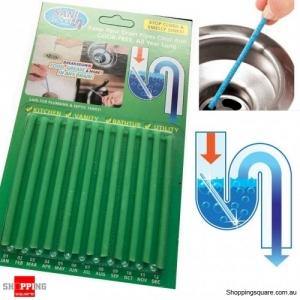 Sink Deodorant Stick 12 Pcs Set Magic Clean Enzymes Sewer Device Deodorant - Green