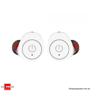Truly Wireless Mini Stealth Stereo Bluetooth Earphone Earbuds DSP Noise Cancelling - White