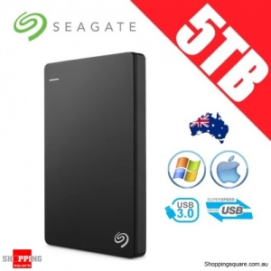 Seagate Backup Plus Slim 5TB 2.5in Portable Hard Disk Drive Black