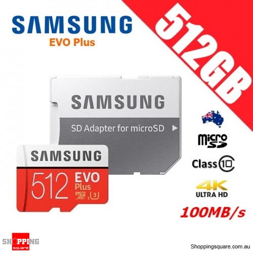 Samsung EVO Plus 512GB microSDXC Memory Card UHS-I U3 100MB/s with Adapter