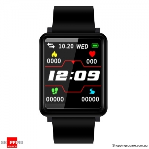 1.44'' TFT Color Touch Screen IP67 Waterproof Smart Watch Fitness Bracelet - Black