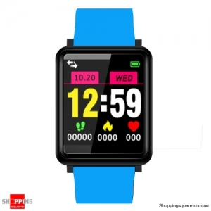 1.44'' TFT Color Touch Screen IP67 Waterproof Smart Watch Fitness Bracelet - Light Blue