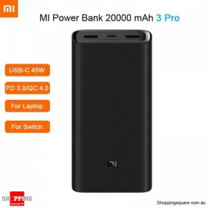 Xiaomi Power Bank 3 Pro 20000mAh USB-C Two-way 45W QC3.0 Fast Charge Power Bank for Smartphone Notebook