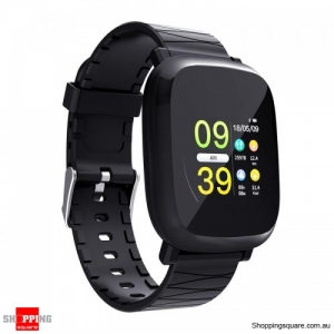 1.3' TFT color IPS Waterproof Sleep HR Blood Oxygen Pressure Monitor Smart Watch - Black