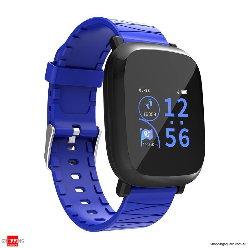 1.3' TFT color IPS Waterproof Sleep HR Blood Oxygen Pressure Monitor Smart Watch - Blue