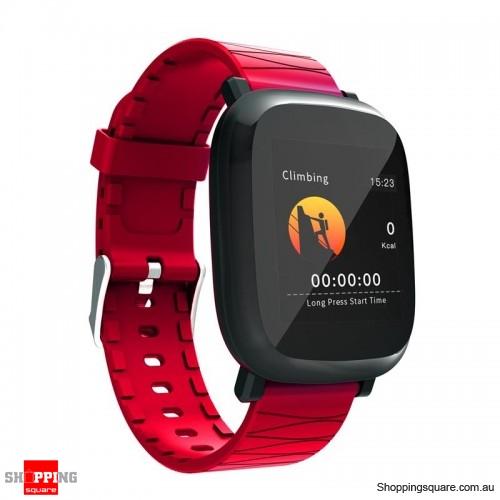 1.3' TFT color IPS Waterproof Sleep HR Blood Oxygen Pressure Monitor Smart Watch - Red