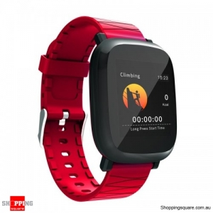 1.3' TFT color IPS Waterproof Sleep HR Blood Oxygen Pressure Monitor Smart Watch - Red
