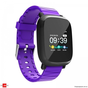 1.3' TFT color IPS Waterproof Sleep HR Blood Oxygen Pressure Monitor Smart Watch - Purple