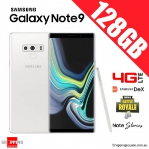 Samsung Galaxy Note 9 128GB 4G LTE Dual Sim Unlocked Smart Phone Alpine White