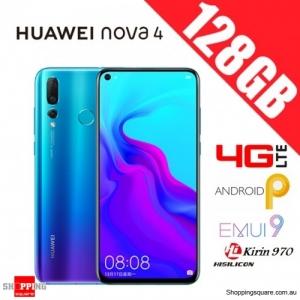 Huawei Nova 4 128GB VCE-L22 Dual Sim Unlocked Smart Phone Crush Blue