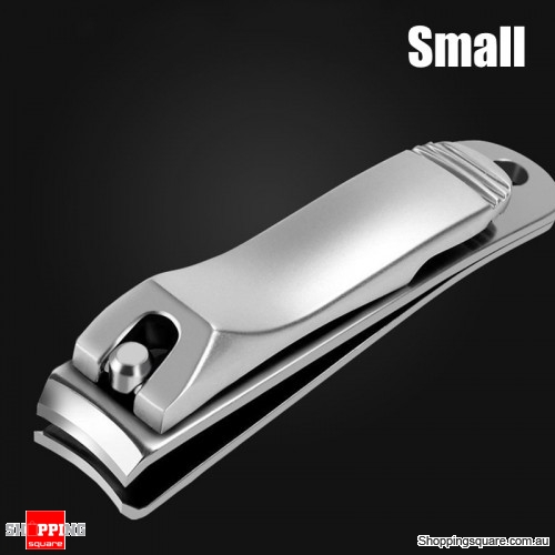 Stainless Steel Nail Clipper Fingernail Cutter Manicure Tool with Nail File - Small