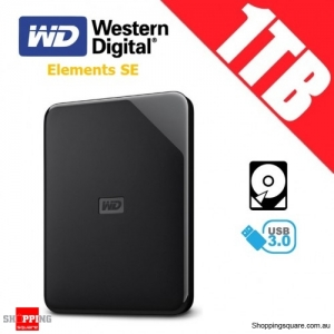 Western Digital Elements 1TB USB 3.0 Portable Hard Drive Disk