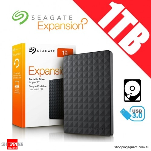 Seagate Expansion 1TB USB 3.0 Portable Hard Drive Disk