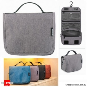 Waterproof Foldable Hanging Toiletry Travel Bag Make Up Cosmetic Pouch Storage Pack - Light Gray