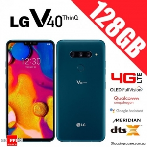 LG V40 ThinQ 128GB LMV405EBW Dual Sim 4G LTE Unlocked Smart Phone Moroccan Blue