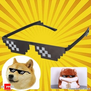 Double Row Pixel Glasses Photography Tools Cool Pose Style Toys Party