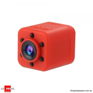 SQ18 Portable HD 1080P Mini Camera LED IR Night Vision Camcorder Sport Outdoor - Red