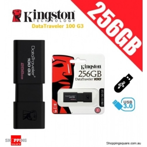 Kingston DataTraveler 100 G3 256GB USB Flash Drive (DT100G3)