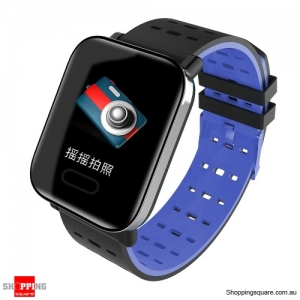 "1.3"" Touch Screen G-Sensor Waterproof IP67 Oxygen Monitor Smart Watch - Blue"