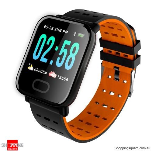 "1.3"" Touch Screen G-Sensor Waterproof IP67 Oxygen Monitor Smart Watch - Blue"
