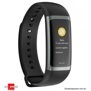 0.96 TFT Color Display Waterproof IP67 Fitness Smart Bracelet Sport Watch - Black
