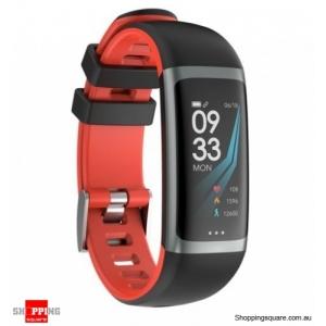 0.96 TFT Color Display Waterproof IP67 Fitness Smart Bracelet Sport Watch - Red