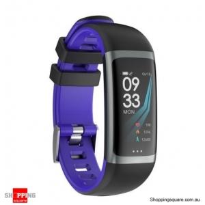 0.96 TFT Color Display Waterproof IP67 Fitness Smart Bracelet Sport Watch - Purple
