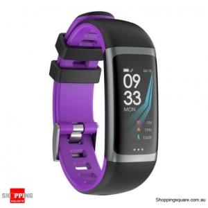 0.96 TFT Color Display Waterproof IP67 Fitness Smart Bracelet Sport Watch - Light Purple