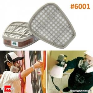 2Pcs Gas Mask Cartridges Chemical Organic Vapor Cartridge Respiratory Paint Model# 6001