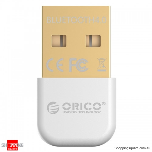 ORICO BTA-403 Mini Bluetooth 4.0 24K Gold-Plated Adapter for PC Laptop - White