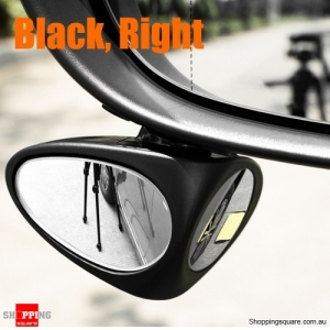 Car Double Side Blind Spot Rearview Mirror Wide Angle Reversing Auxiliary Mirror - Black Right