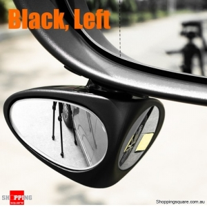 Double Side Blind Spot Car Rearview Mirror Wide Angle Reversing Auxiliary Mirror - Black Left