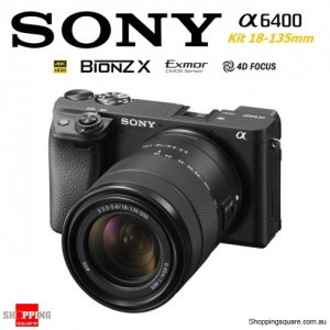 Sony A6400 Kit 18-135mm Lens E-mount 4K HDR Digital Camera DSLR Black