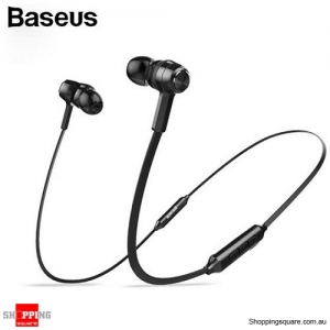 Baseus S06 Wireless Bluetooth Earphone Mobile Phone Stereo Wired Control with MIC - Black