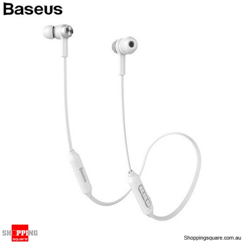 460102b0ec3 Baseus S06 Wireless Bluetooth Earphone Mobile Phone Stereo Wired Control  with MIC - White - Online Shopping @ Shopping Square.COM.AU Online Bargain  ...