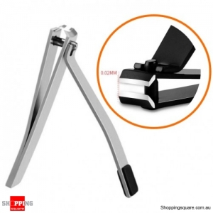 Stainless Steel Nail Clip Clipper Fingernail Cutter Toenails Manicure Tool - Silver
