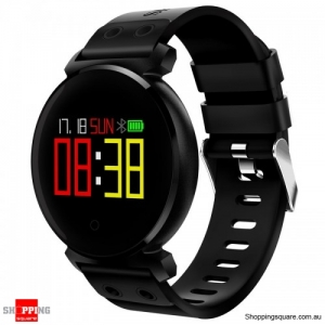 OLED HD Color Display Bluetooth Swimming Long Stand-by Time Smart Watch - Black