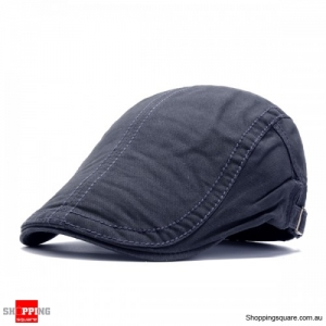 Adjustable Cotton Caps Retro Causal Outdoor Beret Hat - Gray